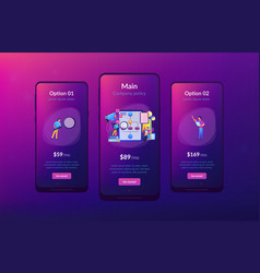 Business rule app interface template vector