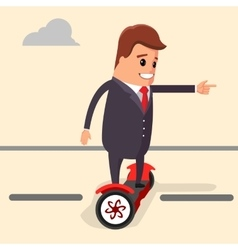 Businessman riding on a vector image