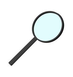 Cartoon magnifier icon schools supplies isolated vector