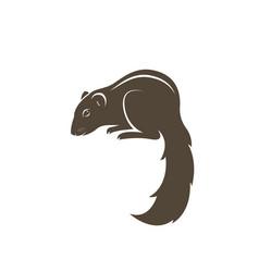 chipmunk design on white background easy editable vector image