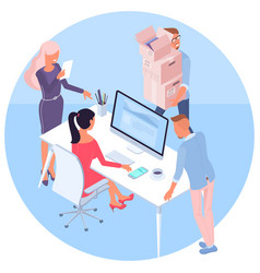 concept of teamwork and workflow vector image