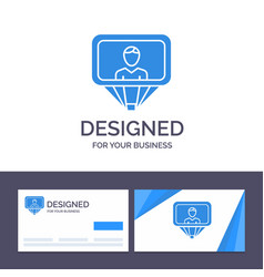 Creative business card and logo template user vector