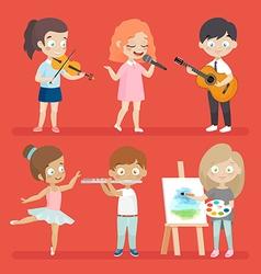 Creative kids vector image