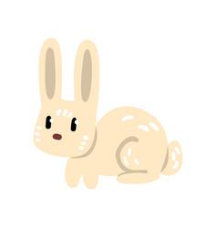 cute funny little rabbit cartoon character vector image