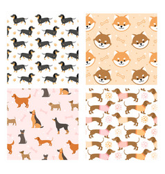 dog pets seamless pattern vector image