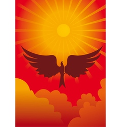 Eagle in sun vector