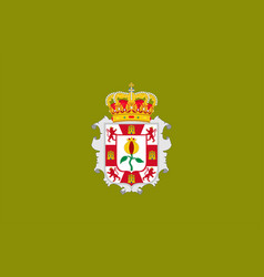 Flag granada is a province in andalusia of vector