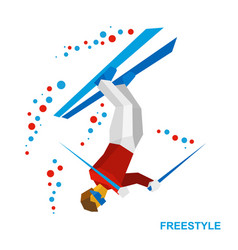 freestyle skiing half-pipe superpipe vector image
