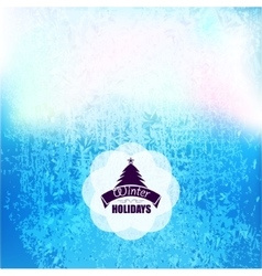 frozen frost background texture Glass snow vector image