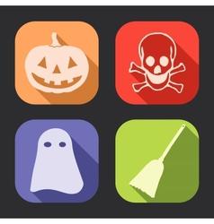Halloween long shadow icon vector