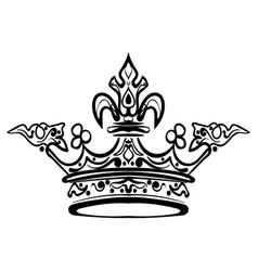 Hand drawn crown vintage engraved vector
