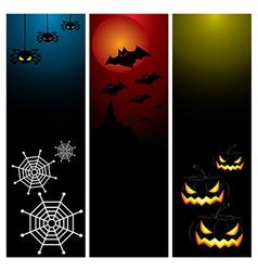 Happy Halloween day banner set design vector