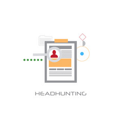 Headhunting curriculum vitae business candidate vector