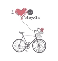 I Love My Bicycle vector