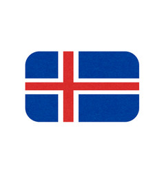 Iceland flag isolated icon of icelandic banner vector