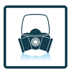 Icon of chemistry gas mask vector image