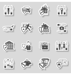 Insurance Sticker Set vector image