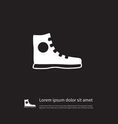 Isolated athletic shoe icon sneakers vector
