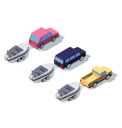 isometric 3d back view classic pickup truck car vector image