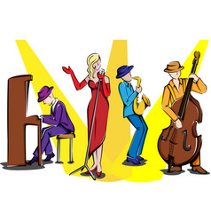 jazz ensemble vector image