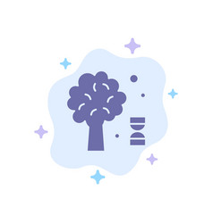 Knowledge dna science tree blue icon on abstract vector