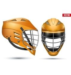 Lacrosse Helmet set vector