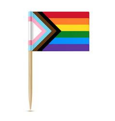Lgbtq pride flag rainbow flag toothpick isolater vector