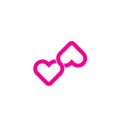 link love logo icon design vector image