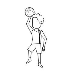 male basketball player cartoon vector image