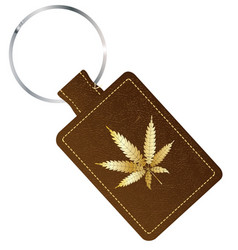 Marijuana isolated key fob vector