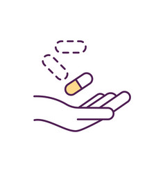 Medication-assisted treatment rgb color icon vector