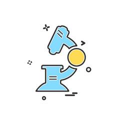 microscope icon design vector image