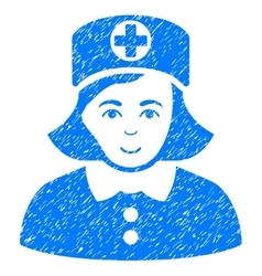 Nurse Grainy Texture Icon vector
