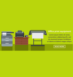 Office print equipment banner horizontal concept vector
