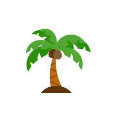 Palm tree icon flat vector