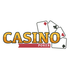 Poker play cards casino gambling isolated icon vector