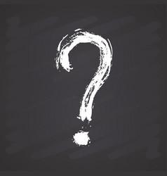 Question mark grunge textured hand drawn on vector