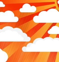 Rain clouds with sun vector image vector image