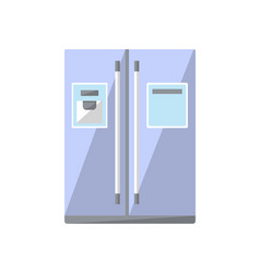refrigerator isolated icon in flat style vector image