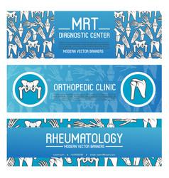 Rheumatology and orthopedic medicine banner design vector