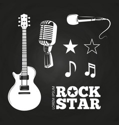 Rock star or musician elements set vector