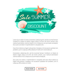 Sale summer discount summertime web poster vector