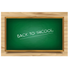 School green Board on wooden background vector image