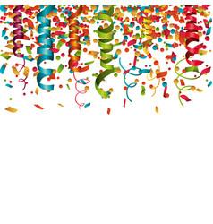Serpentine curling confetti isolated vector