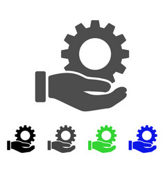 Service gear flat icon vector