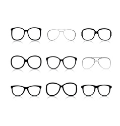 Set glasses vector