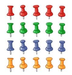 Set of push pins vector