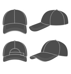 Set of with a baseball cap vector