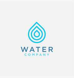 Simple modern water drop logo icon template vector