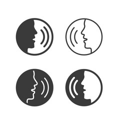 speaking icons people talking with command vector image